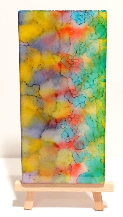 Abstract Alcohol Ink on Marble - New World Imagery