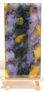 Abstract Alcohol Ink on Marble