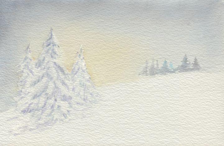 Winter Wonderland Dawn - EwaPix Paintings