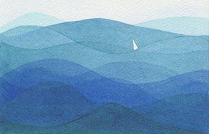 Single Sail In a Big Ocean