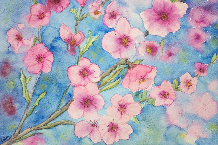 Cherry blossoms with blue sky - BRISTE