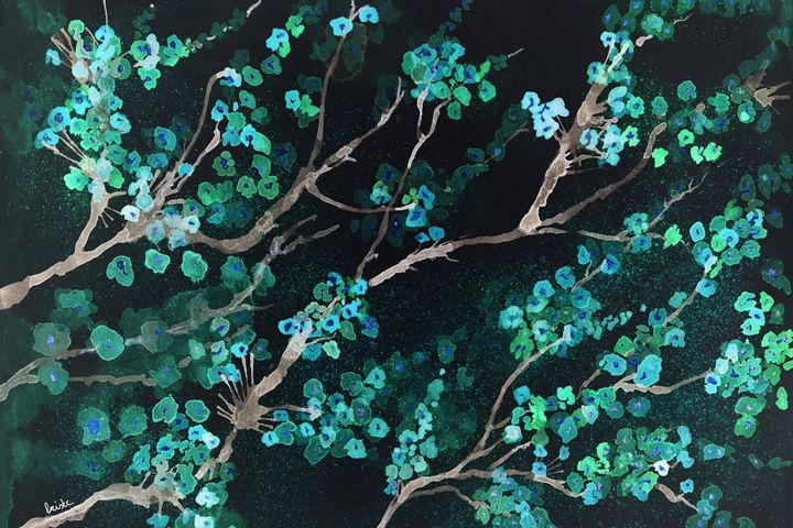 Fantasy of greenish blossoms - BRISTE