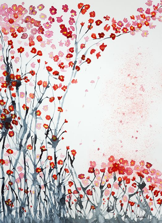 Cherry blossoms in the grass - BRISTE