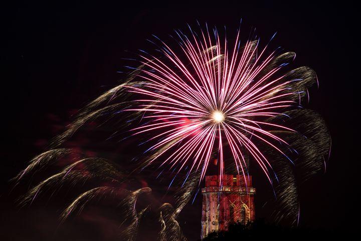 Fireworks St. Rumbold's Tower - BRISTE