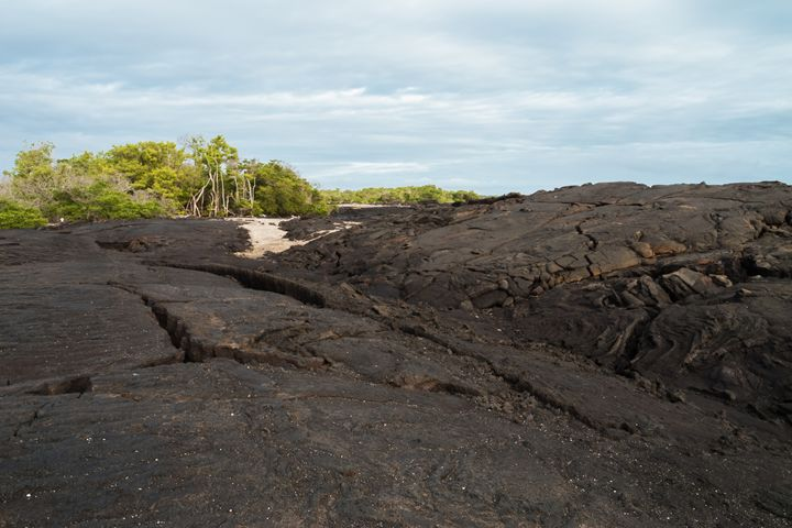 Giant lava flow with ropy pahoehoe o - BRISTE
