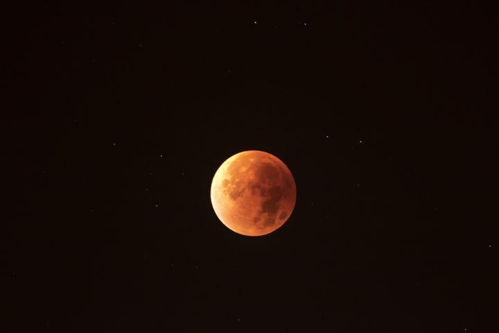 End of the total lunar eclipse of se - BRISTE
