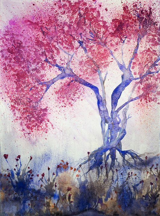 Tree with cherry blossoms in the eve - BRISTE