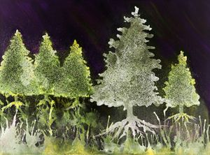 Psychedelic Christmas trees in the n - BRISTE