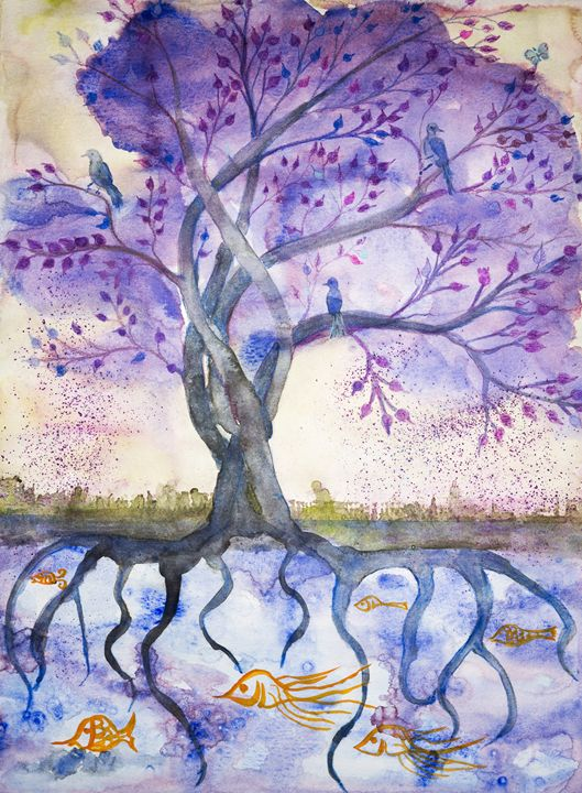 Lilac tree of life. - BRISTE
