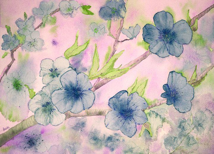 Fantasy of blue flowers - BRISTE