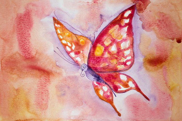 Pink butterfly - BRISTE