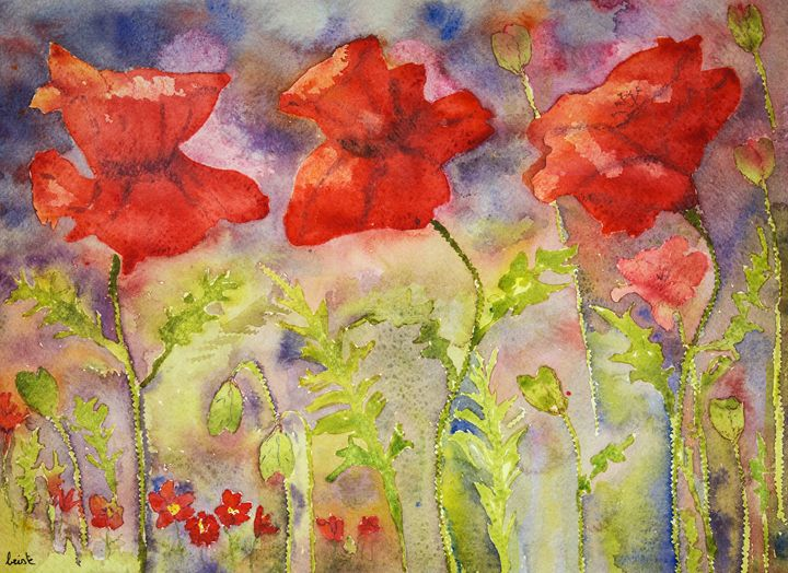 Poppies in bright summer colours. - BRISTE