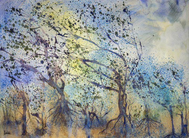 Impression of a forest in stormy wea - BRISTE