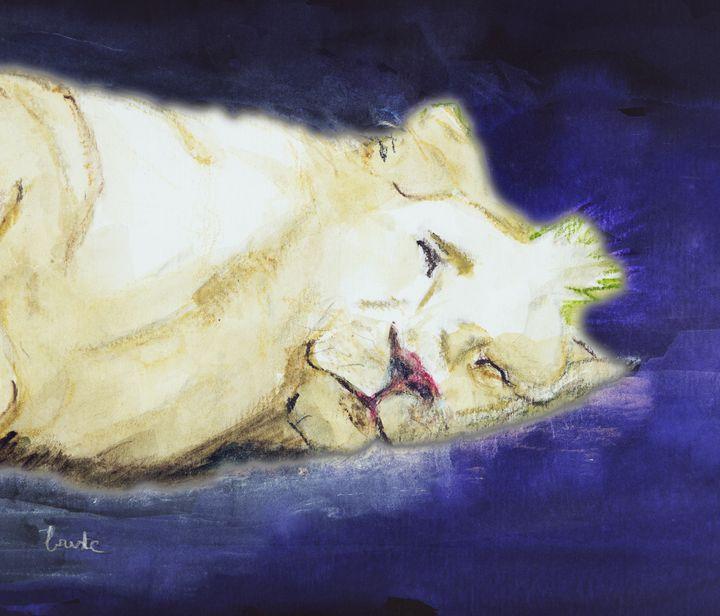 Fantasy of a sleeping lion. - BRISTE