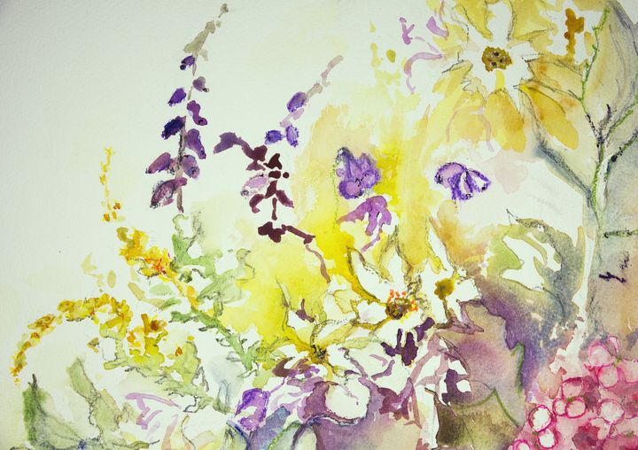 Impression of a mix of wild flowers. - BRISTE
