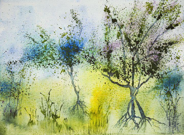 Impression of three trees - BRISTE