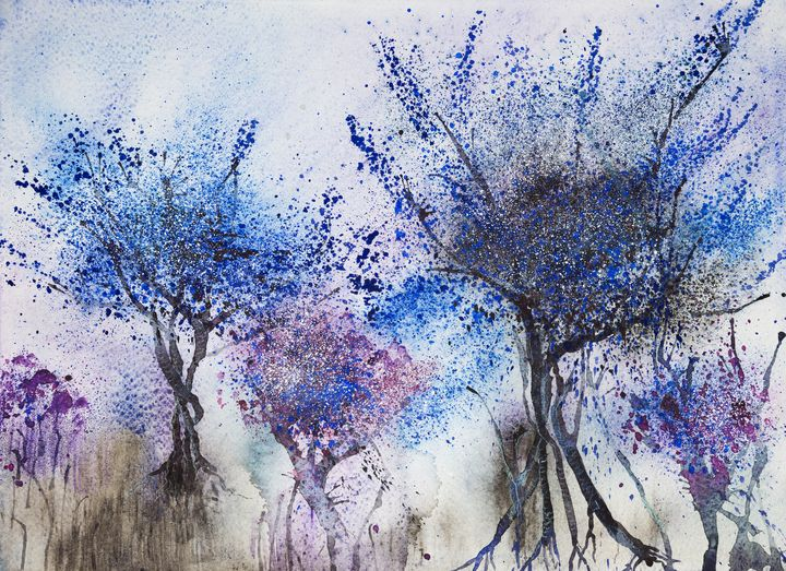 Impression of trees with blue - BRISTE