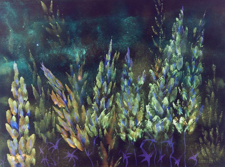Nightly impression of blueish lupine - BRISTE