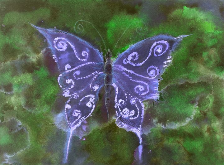 Butterfly in shades of blue - BRISTE