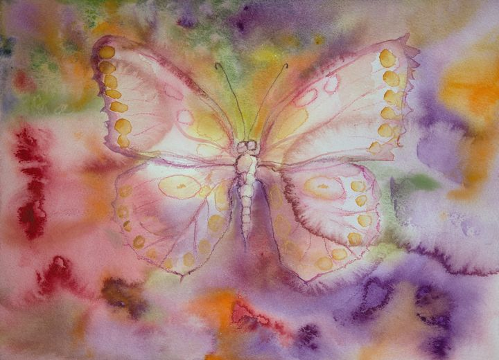 Butterfly with yellow dotted wings - BRISTE