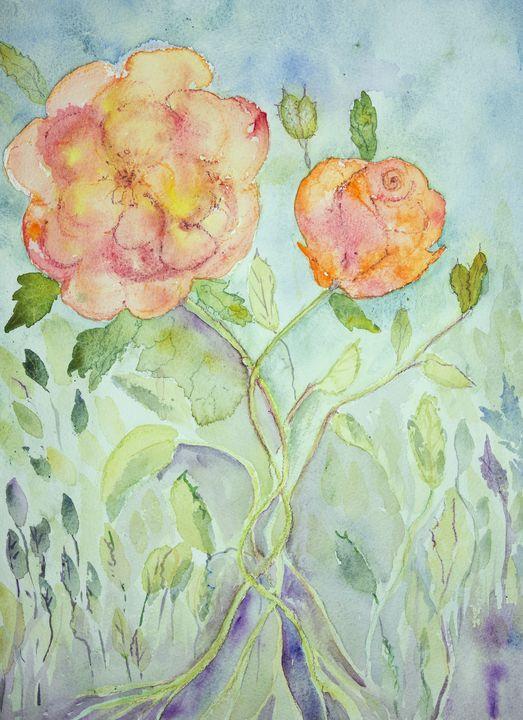 Naive impression of roses. - BRISTE