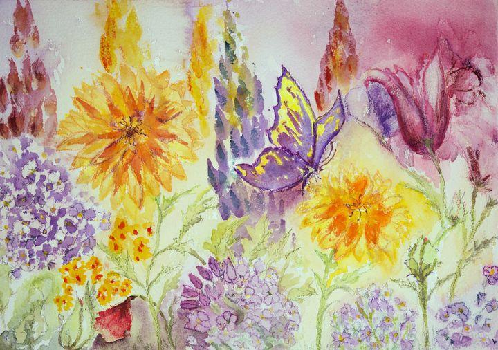 Garden with marigold - BRISTE