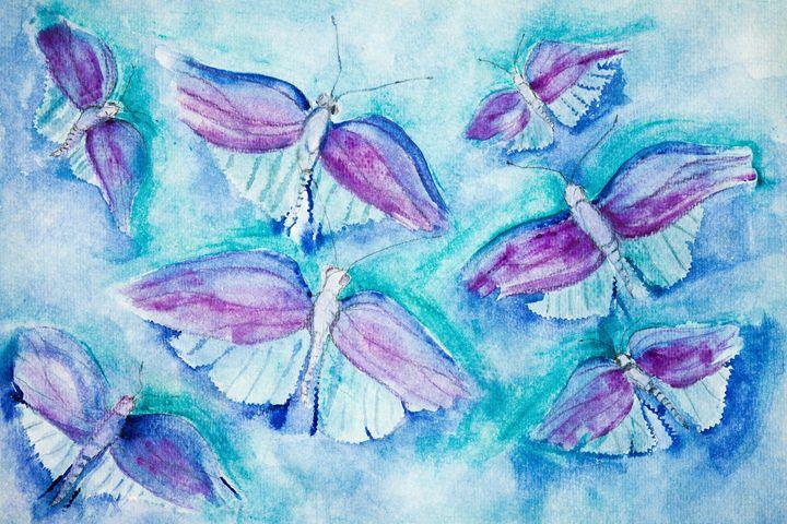 Flying butterflies - BRISTE
