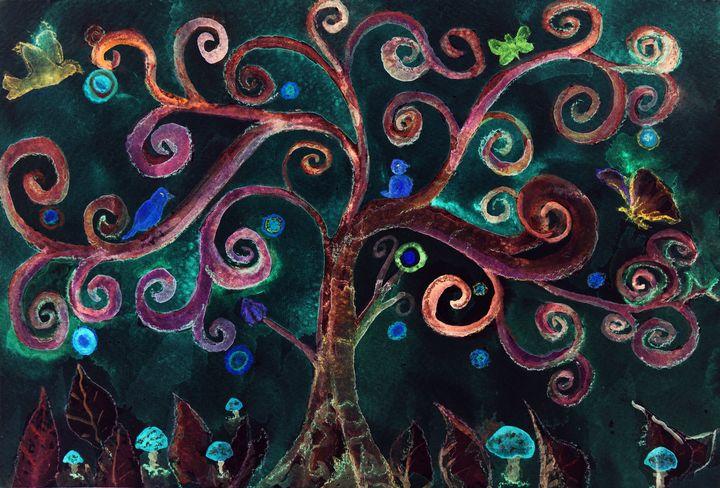 An imaginary turquoise lunatic tree - BRISTE