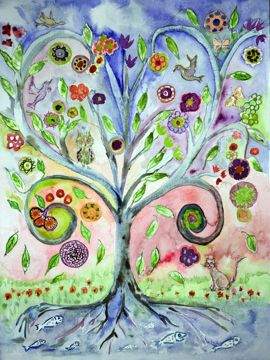 Folk art tree of life. - BRISTE