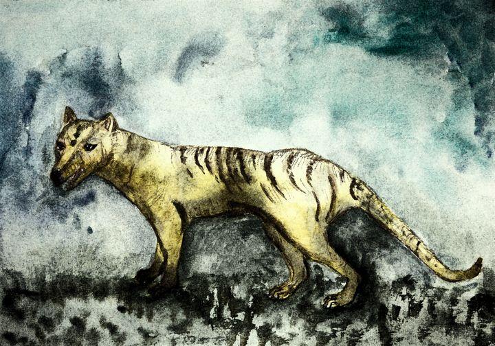 Weathered Tasmanian tiger. - BRISTE