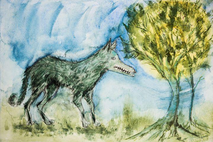 Wild wolf in the forest. - BRISTE