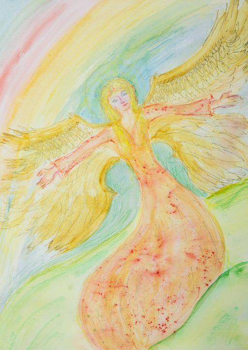 Flying feminine angel. - BRISTE