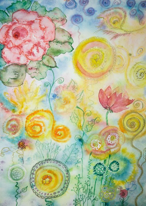 Bright abstract flowers. - BRISTE