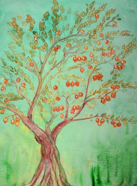 Orange tree in the summer. - BRISTE