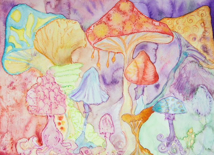 Trippy magical psychedelic mushrooms - BRISTE