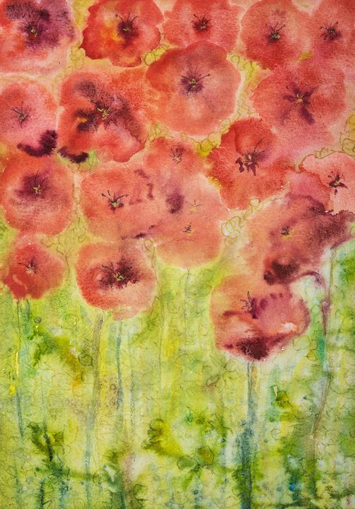 The poppies of Flanders painting. - BRISTE