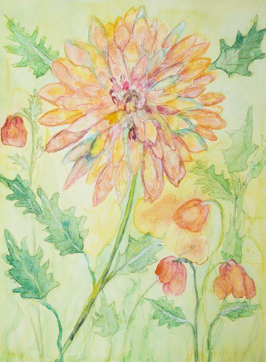 Happy decorative marigold painting. - BRISTE