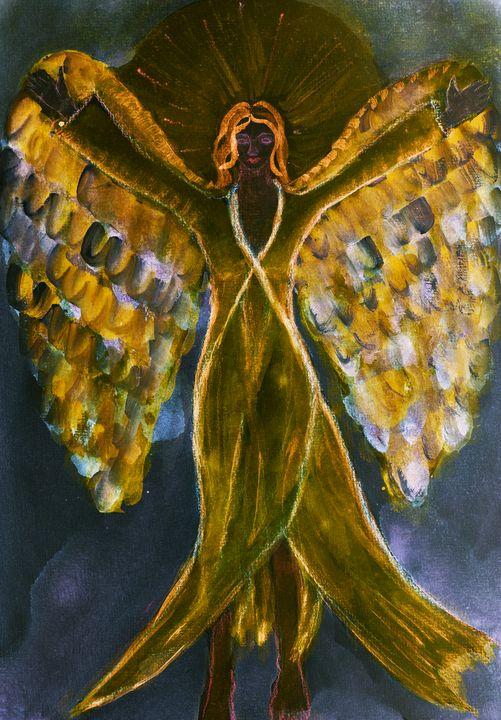 Feminine black angel with long dress - BRISTE