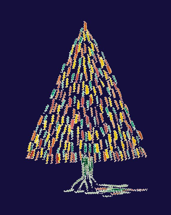 Abstract whimsical Christmas tree on - BRISTE