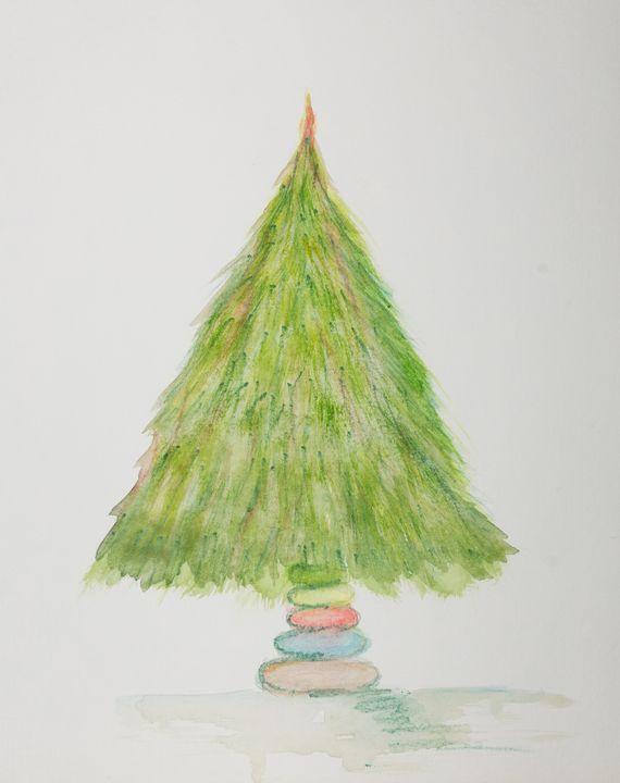 Evergreen Christmas tree. - BRISTE