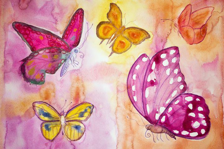 Five different butterflies - BRISTE