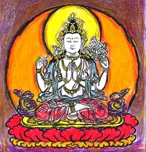 The Floating Avalokiteshvara