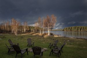 Evening storm sky