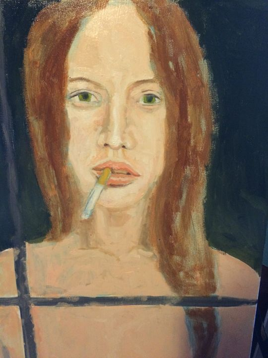 Girl with cigarette - Cesar's Palette