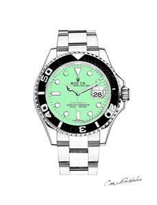 LIMITED Rolex Pastel Canvas - Green