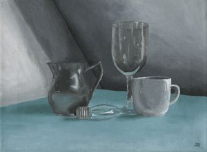 Glassware Acrylic Painting