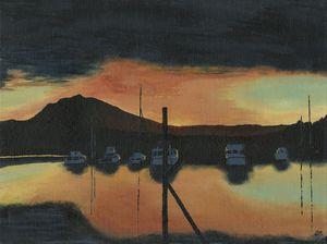 California Boat Sunset