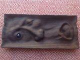 Hand-carved mahogany