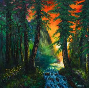 Tranquility In The Forest - M.Thompson Studio