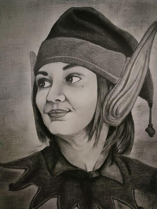 Pencil portrait of Nicole Haught - 9bVault